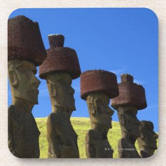 文化的な彫像、イースター島、ポリネシア コースター