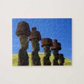 文化的な彫像、イースター島、ポリネシア ジグソーパズル
