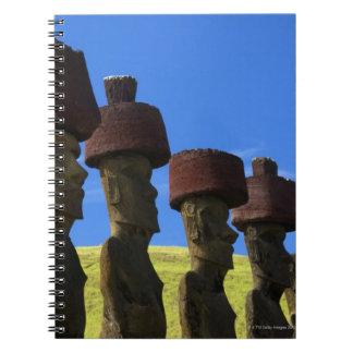 文化的な彫像、イースター島、ポリネシア ノートブック