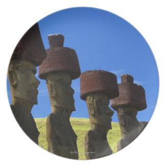 文化的な彫像、イースター島、ポリネシア プレート