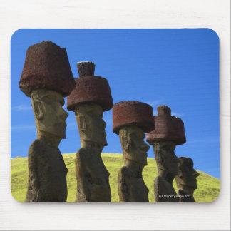 文化的な彫像、イースター島、ポリネシア マウスパッド