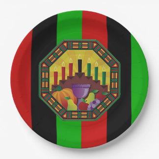 文化Kwanzaaのパーティーの紙皿を包含して下さい ペーパープレート