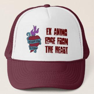 文字が付いているあずき色の神聖なハートの帽子 キャップ