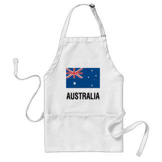 文字が付いているオーストラリアの旗 スタンダードエプロン