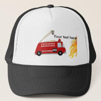 文字が付いているカスタムな普通消防車 キャップ