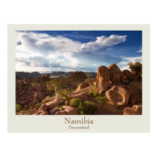 文字が付いているナミビア- Damaralandの郵便はがき ポストカード