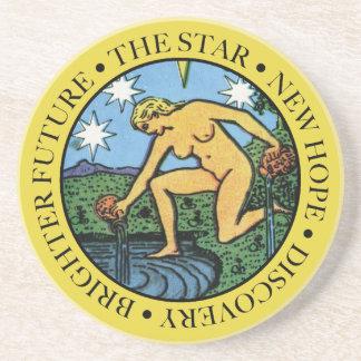 文字が付いている星のコースター コースター