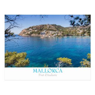 文字が付いているMallorca -港のAndratx --の郵便はがき ポストカード
