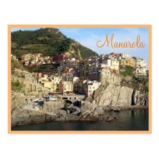 文字とのCinque Terre (Manarola) ポストカード