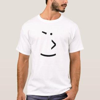 文字のまばたき Tシャツ