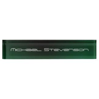 文字の専門のモダンな緑のネームプレートをカスタマイズ デスクネームプレート