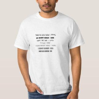文字の言語ワイシャツ Tシャツ