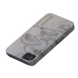 文字は及び死神のブラックベリーの箱を運転するために Case-Mate iPhone 4 ケース
