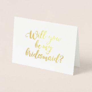文字を入れられた私の新婦付添人手です 箔カード