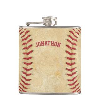 文字を入れられる名前入りな野球の赤いスポーツ フラスク