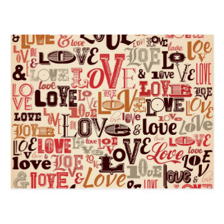 文字デザインなクールな愛 ポストカード