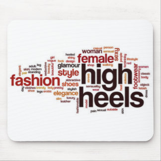 文字デザインなファッションのハイヒールのタイポグラフィ マウスパッド