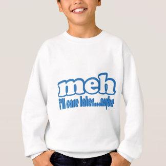 文字デザインな多分後でMehの心配 スウェットシャツ