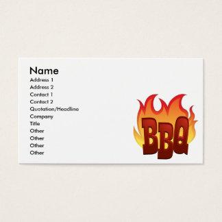 文字デザインなbbqの炎 名刺