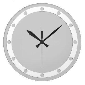 文字盤のリングはあなたのデザインのための白に点を打ちます ラージ壁時計