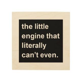 文字通りできない小さいエンジン ウッドウォールアート