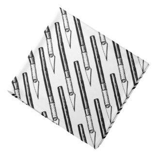 文字通り刃の鋭い- Exactoのナイフパターンバンダナ バンダナ