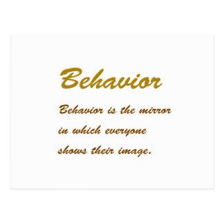 文字: 行動の知恵道徳的な人格会合 ポストカード