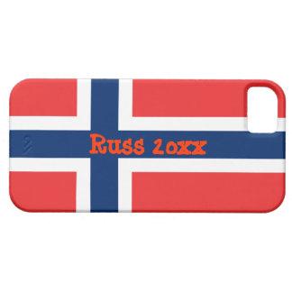 文字Russ 20xxが付いているノルウェーの旗 iPhone SE/5/5s ケース