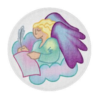 文学的な天使のまな板 カッティングボード