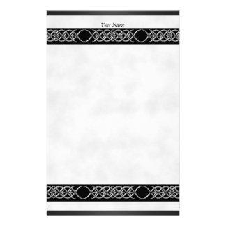 文房具の銀製の白く黒い影 便箋