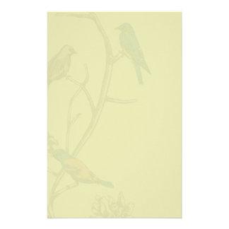~文房具/レターヘッドを話している3羽の鳥 便箋
