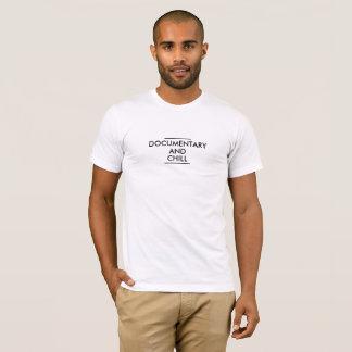 文書及び冷たい人のアメリカの服装のティー Tシャツ
