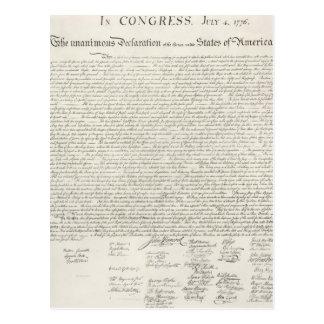 文書独立宣言 葉書き