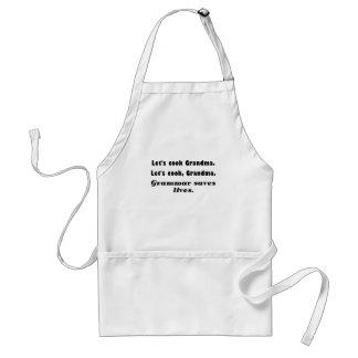 文法が生命を救う調理師の祖母を許可します スタンダードエプロン