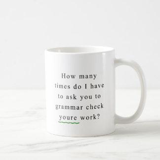 文法点検 コーヒーマグカップ