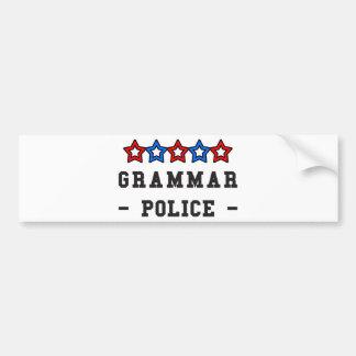 文法警察 バンパーステッカー