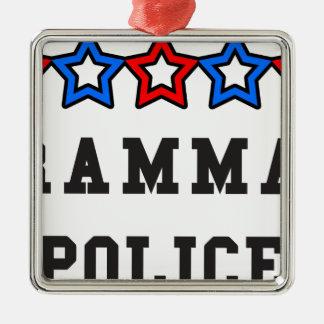 文法警察 メタルオーナメント