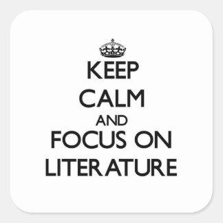 文献の平静そして焦点を保って下さい スクエアシール