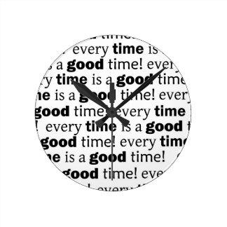 文: よい時間は必ずあります ラウンド壁時計