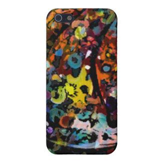 斑入りのデジタル芸術のiphoneの場合 iPhone 5 ケース