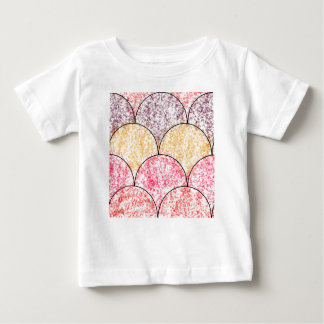 斑入りの人魚のスケール ベビーTシャツ
