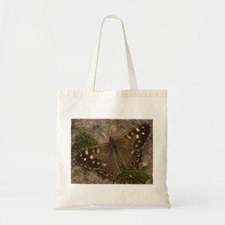 斑入りの木製の蝶 トートバッグ