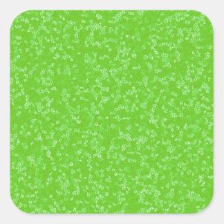 斑入りの緑及び白い四角の封筒用シール スクエアシール
