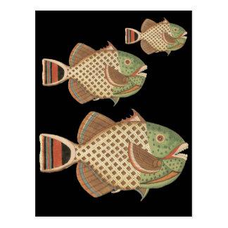 斑入りの魚 ポストカード
