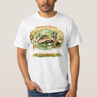 斑点のあるマスのヴィンテージのタバコ入れのラベル Tシャツ