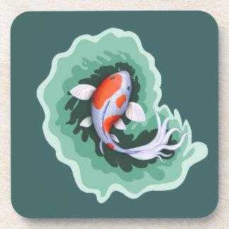 斑点を付けられたお洒落なコイの魚 コースター