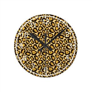 斑点を付けられたジャガーのカムフラージュパターン ウォールクロック