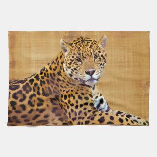 斑点を付けられたジャガーの大きい猫好きの#Gift キッチンタオル