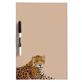 斑点を付けられたジャガーの大きい猫好きの#Gift ホワイトボード