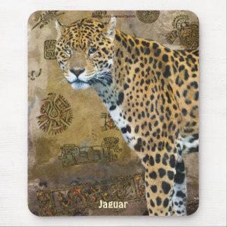 斑点を付けられたジャガー及びCaracolの寺院の芸術のマウスパッド マウスパッド